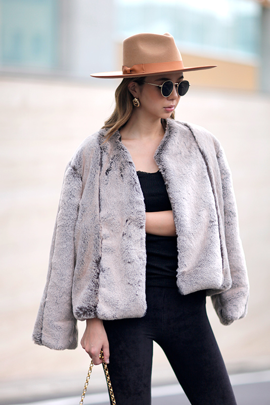 Mix Volume Short Fur Coat