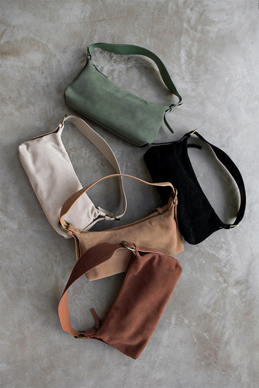 Real Suede Belt Hand Bag