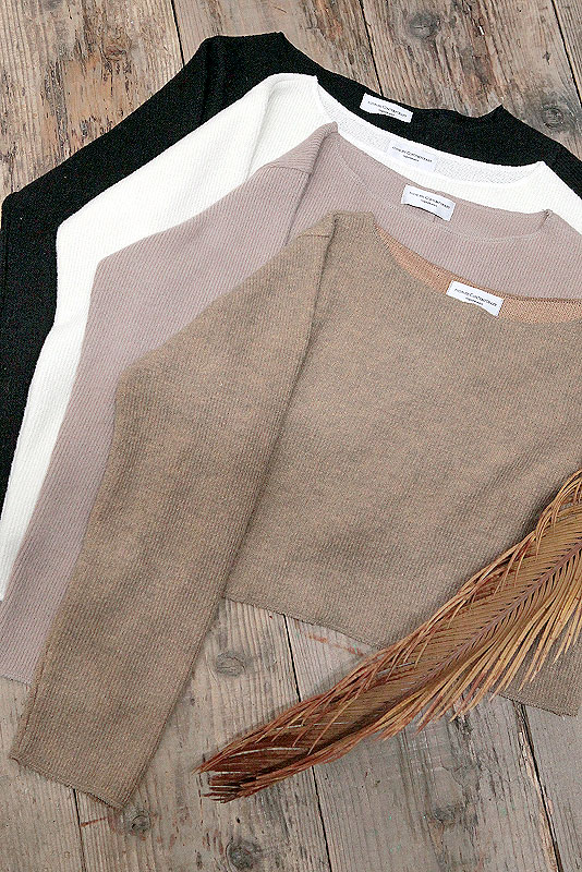 Design Short Knit Tops